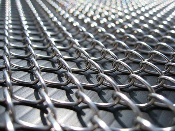 ひし織金網